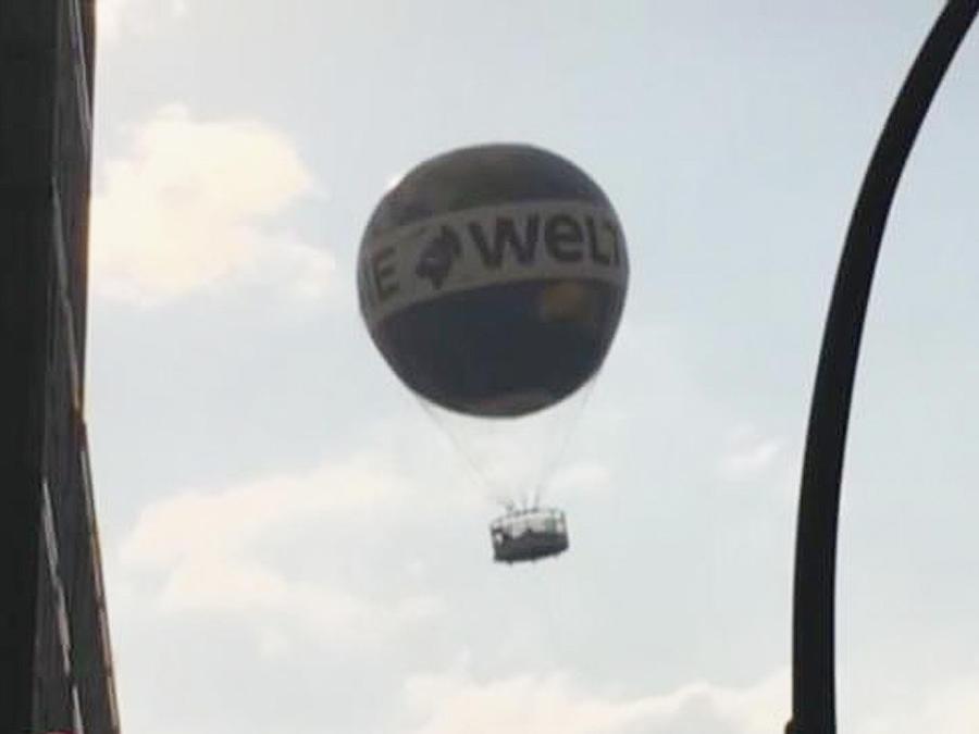 globo sin control por el aire