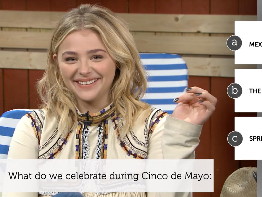 "Chloë Grace Moretz de ""Neighbors 2: Sorority Rising"" se pone a prueba en el Latino IQ"