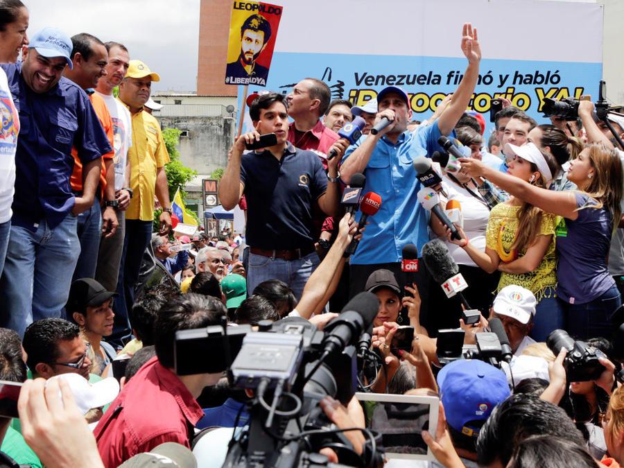 manifestantes venezolanos