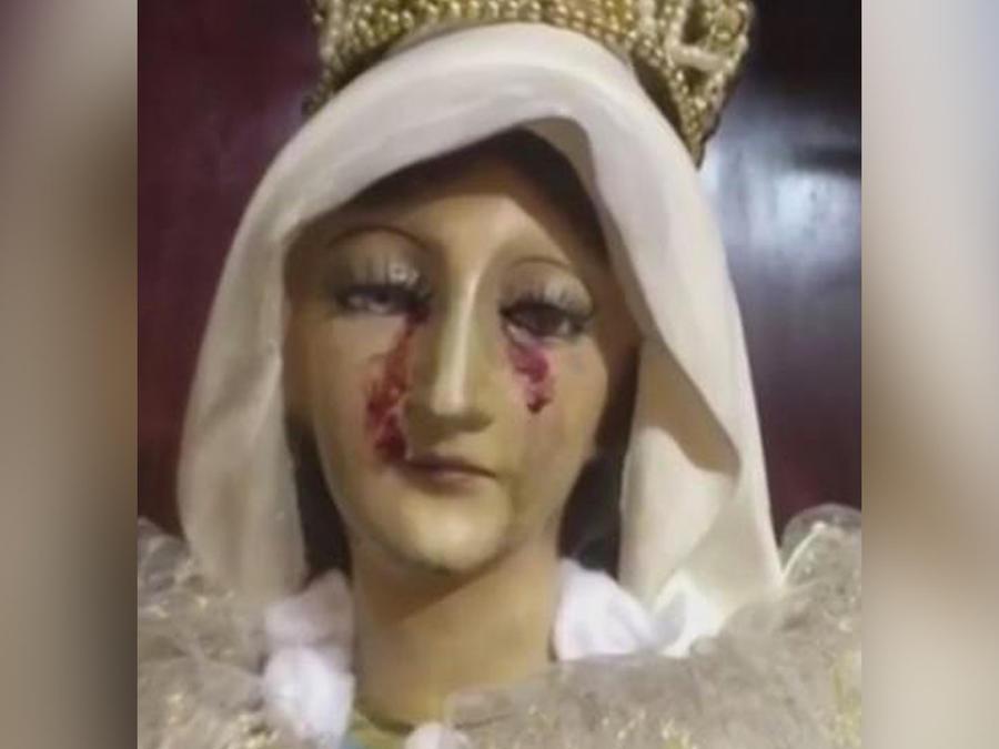 virgen llora sangre