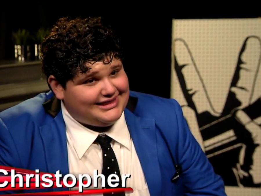 Christopher en entrevista en Reportera Digital en la segunda gala