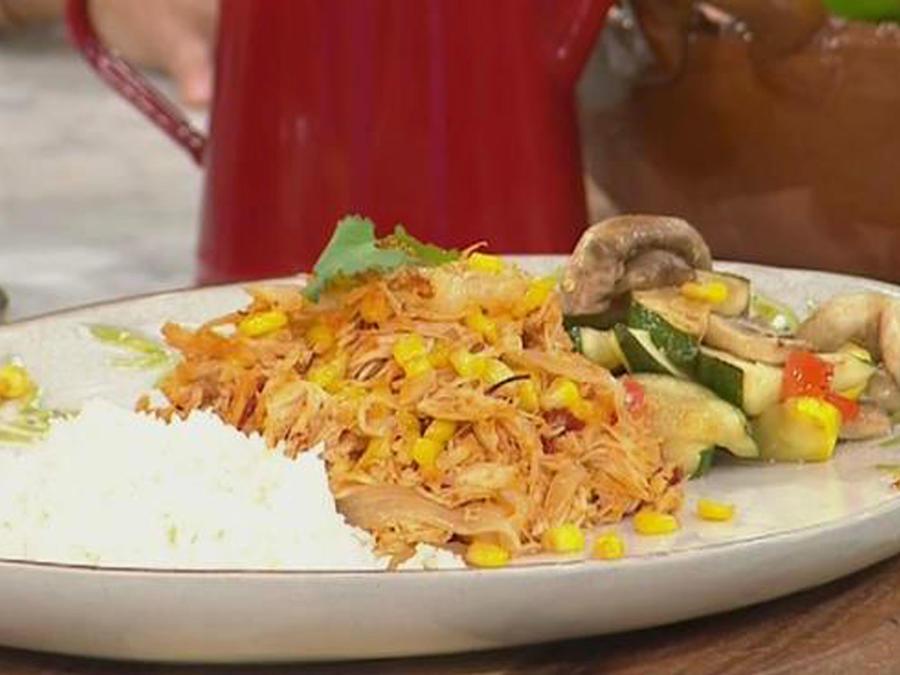 Recetas de cocina: Pollo en Salsa de Chipotle y Elote