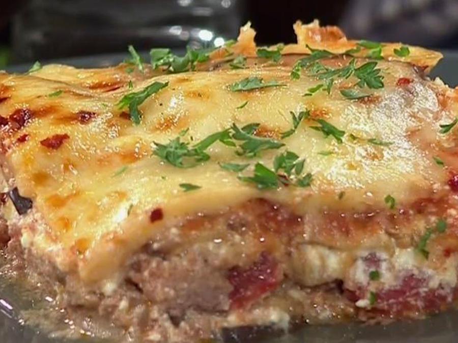 Receta de cocina: Cómo hacer Lasaña de Berenjenas y Pavo