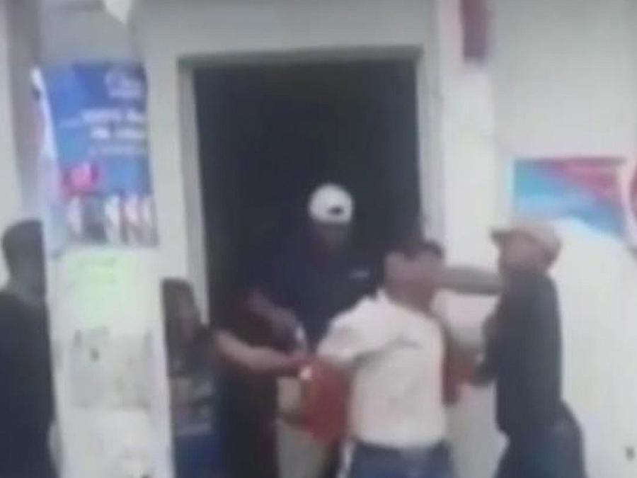 agresion captada en camara
