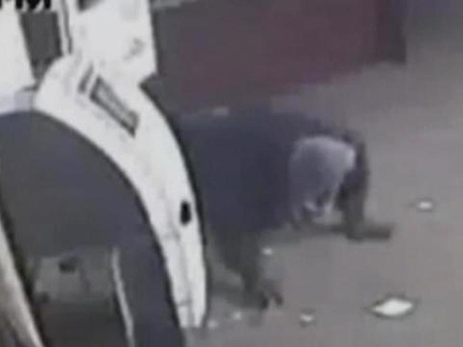 ladron con cajero automatico