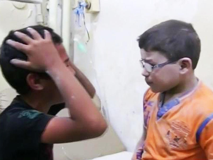 niños sirios lloran