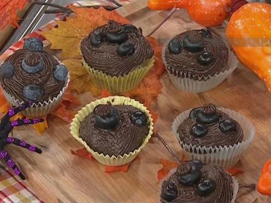 Recetas de cocina: Ponquesitos de Chocolate y Arándanos