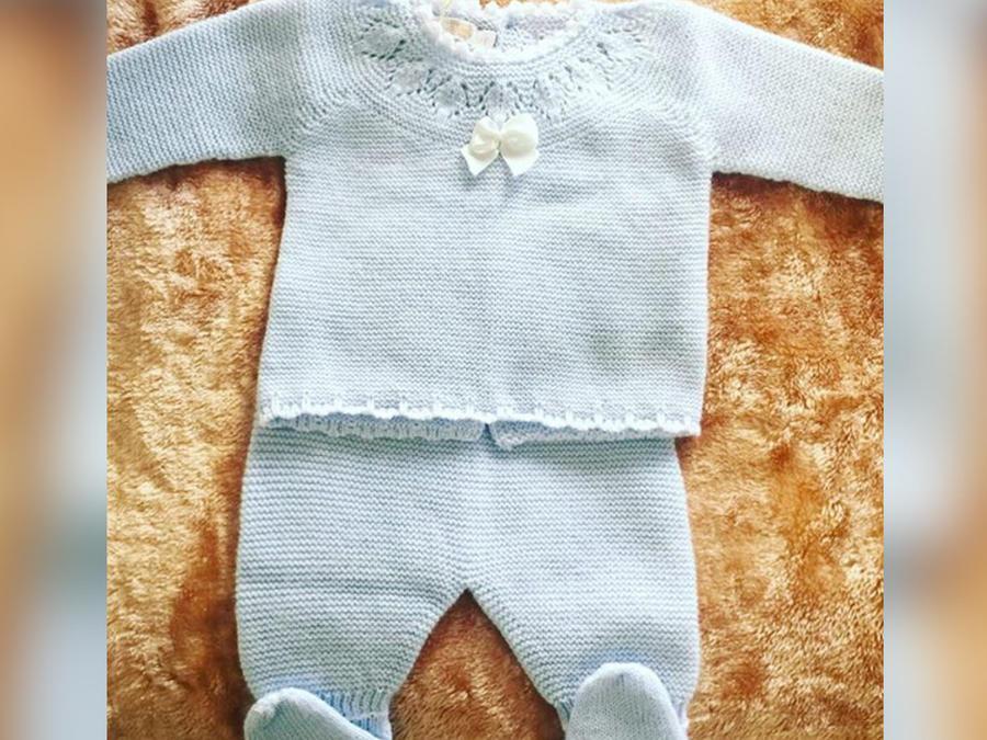 trajecito azul de bebé