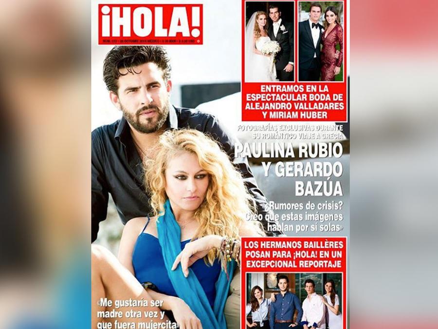 paulina en portada de hola mexico
