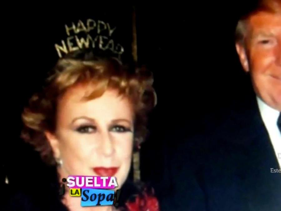 Laura Zapata y Donald Trump