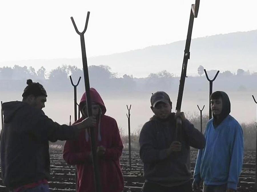 campesinos mexicanos angustiados