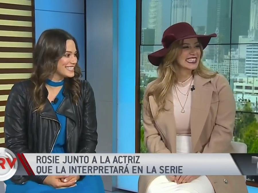 Rosie Rivera con actriz que la interpretará