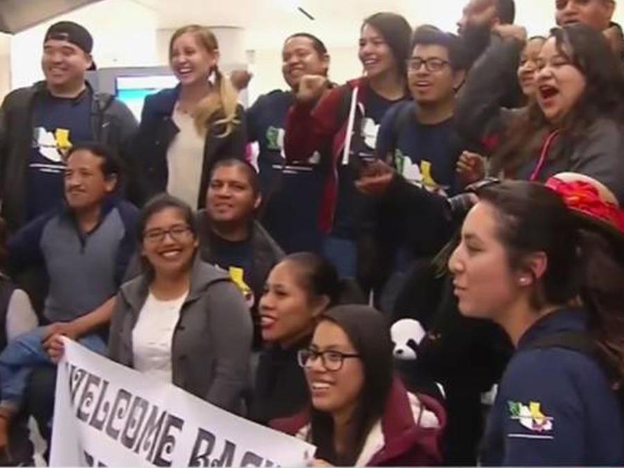 """¡Un grupo de """"dreamers"""" vuelve a Estados Unidos!"""