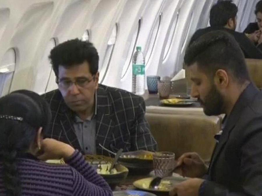avion convertido en restaurant