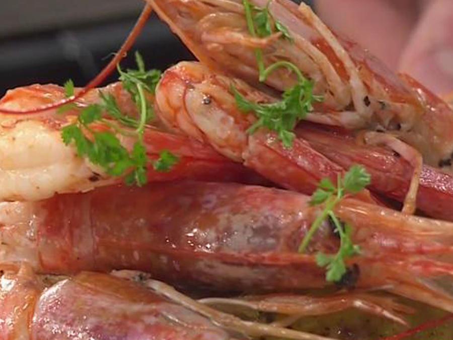 Recetas de cocina: Langostinos con papas al curry