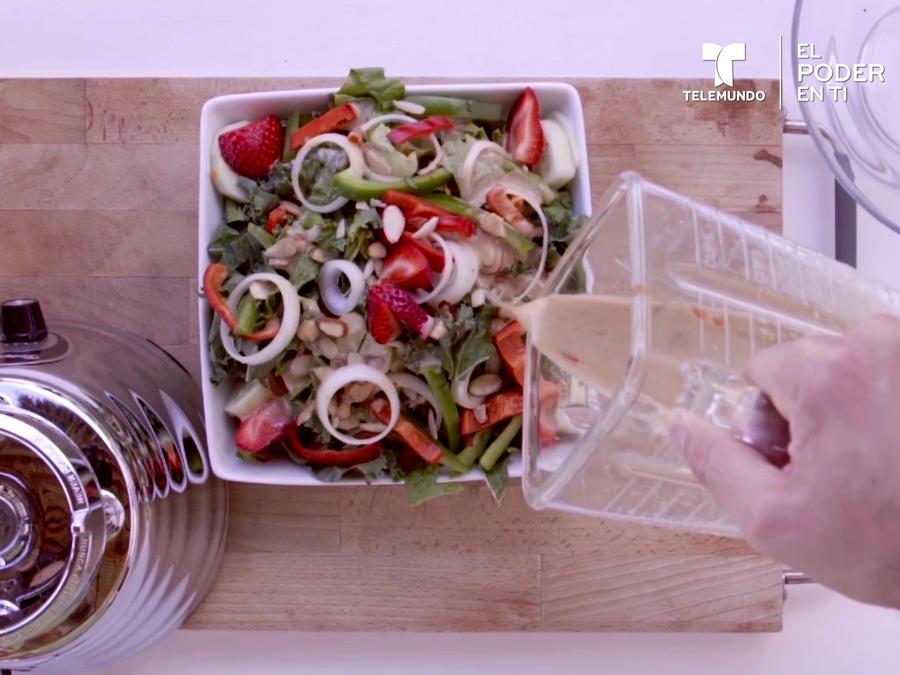 Aderezo de vinagre de vino para ensaladas