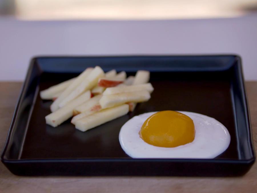 Papas fritas de manzanas