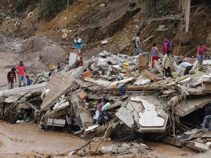 Recorrido por la zona afectada por el deslave en Mocoa