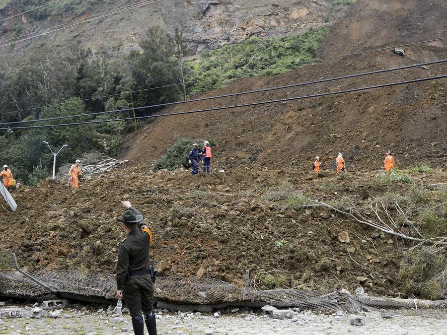 Continúa latente amenaza de deslaves en Colombia