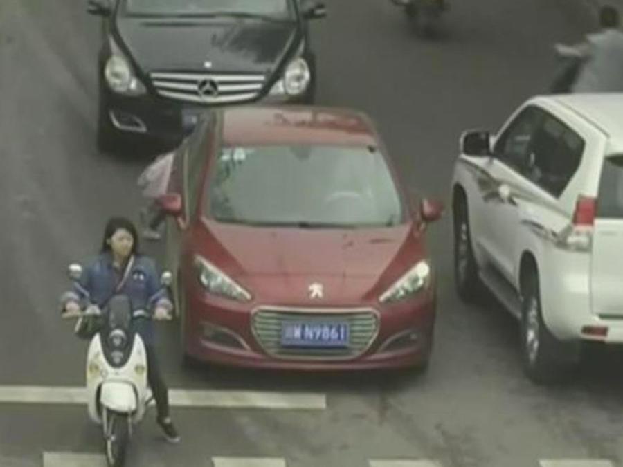 calle transitada en china