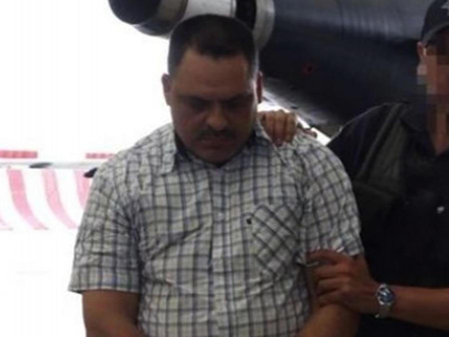 El suegro de 'El Chapo' Guzmán, Inés Coronel, al momento de su detención