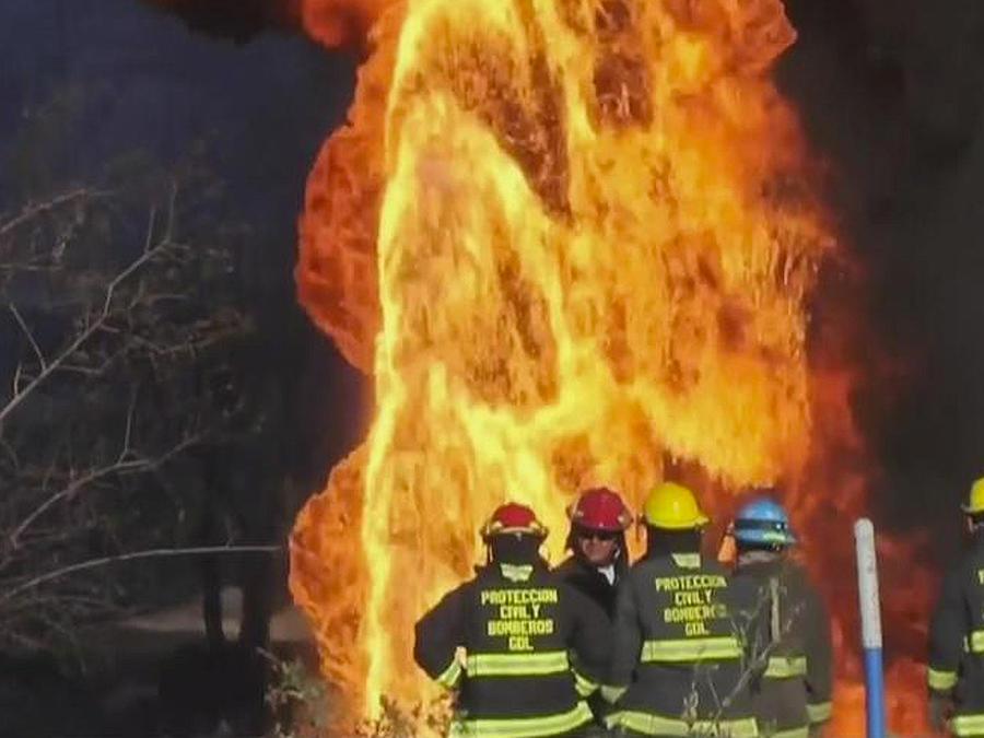 incendio por robo de combustible