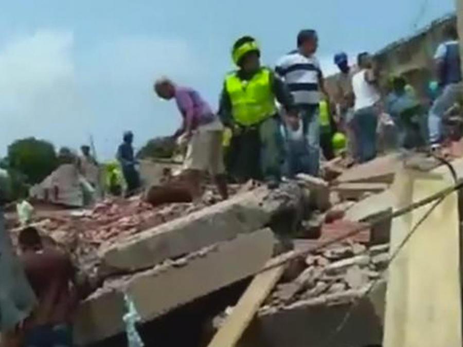 edificio colapsado en cartagena