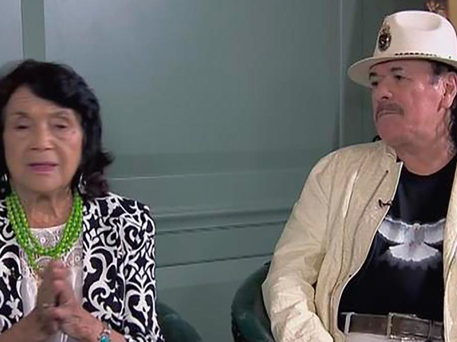 Carlos Santana lanza un documental sobre Dolores Huerta, una reconocida activista latina