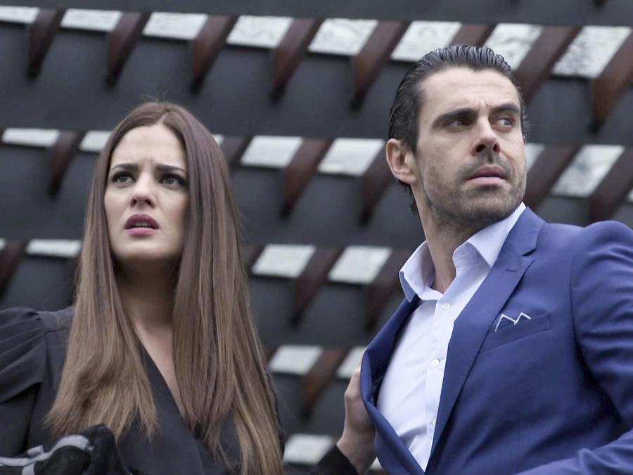 Sabrina Seara y Emmanuel Esparza en el señor de los cielos 5