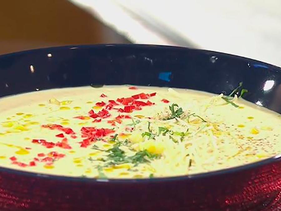 Recetas de cocina: Descubre cómo hacer una deliciosa Crema de Maíz con Chile y Cilantro