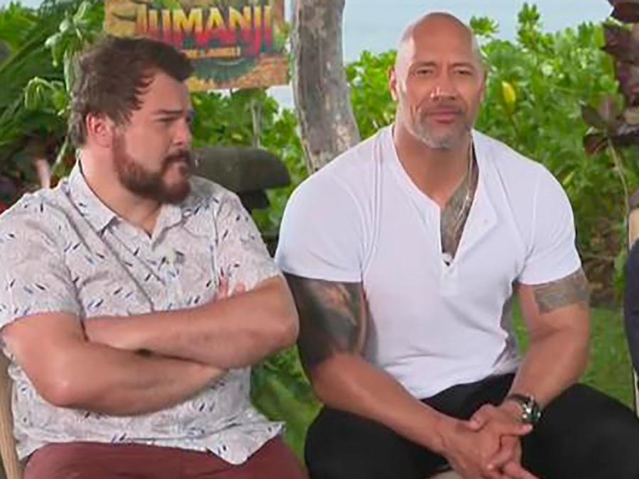 """The Rock, Jack Black y Kevin Hart nos cuentan todos los detalles de la nueva """"Jumanji"""""""