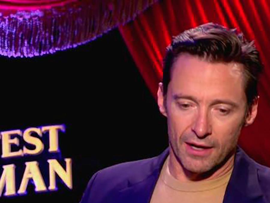 "Verónica Albornoz entrevistó a Hugh Jackman el protagonista de ""The Greatest Showman"""