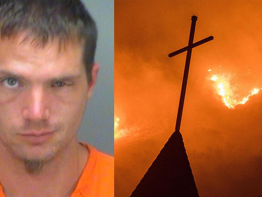Hombre trata de quemar dos iglesias