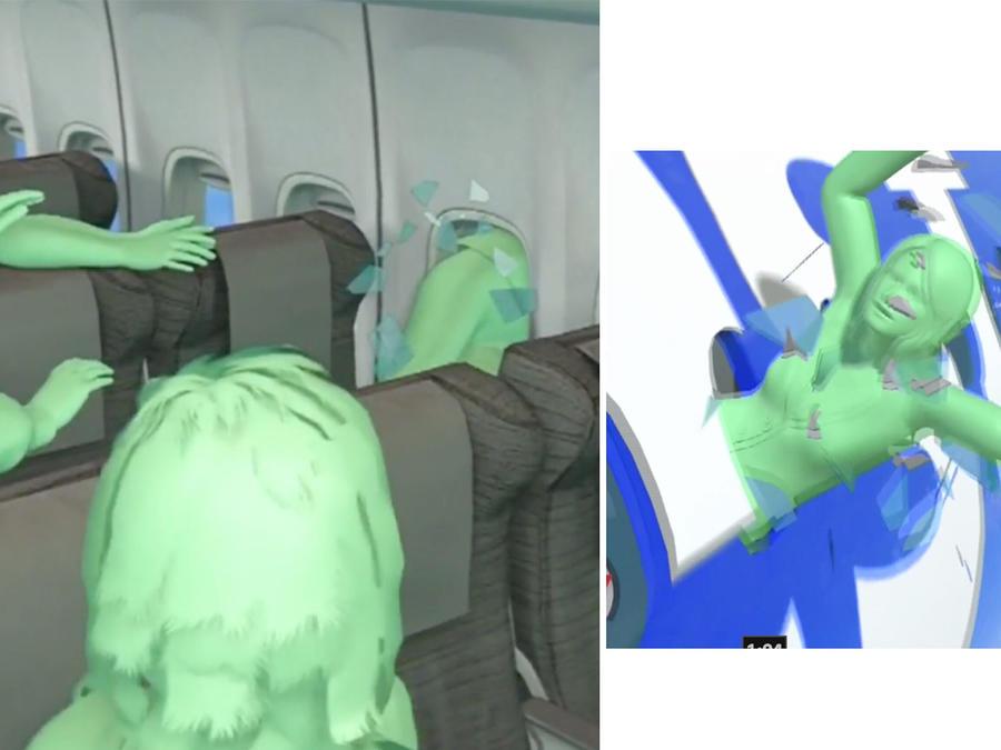 Succionada de avion
