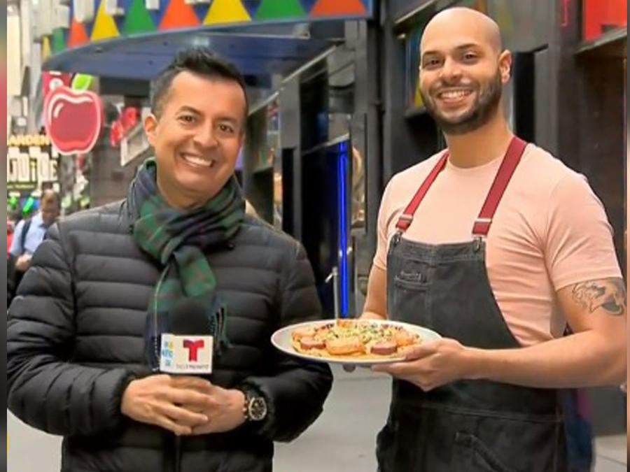 Chef Papi hace pizza dominicana