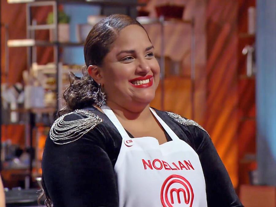 Noelián no ocultó su emoción al ser elegida finalista