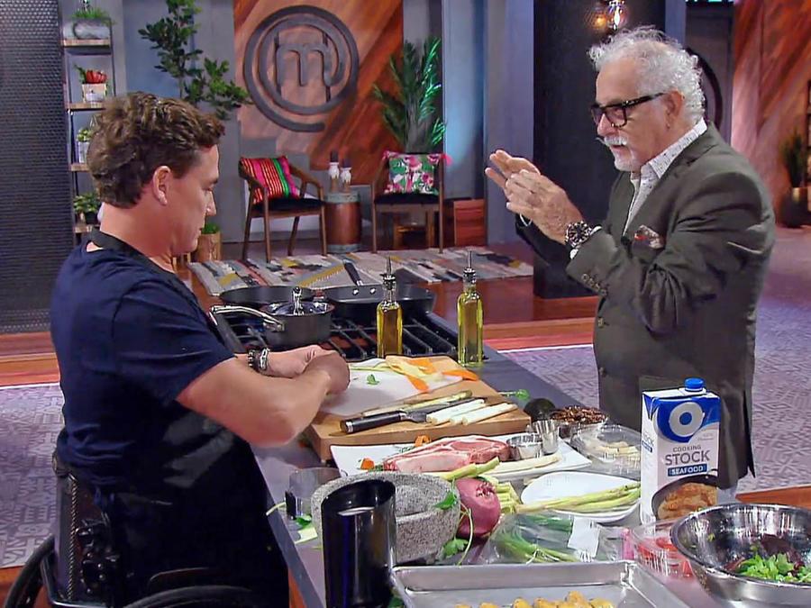 John Pardo y el Chef Ennio discuten
