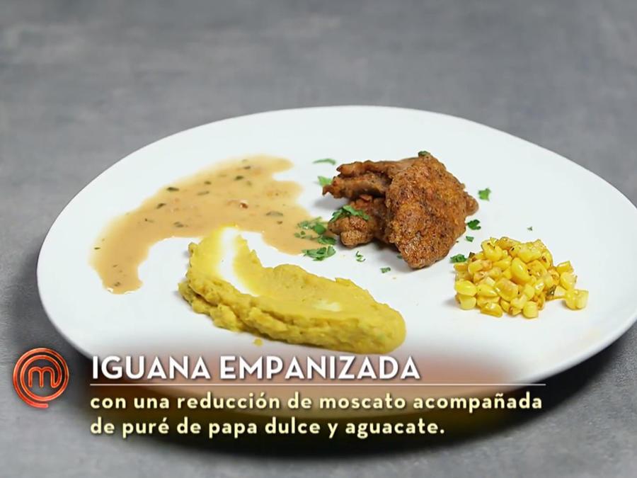 Iguana empanizada de John Pardo en MasterChef Latino 2