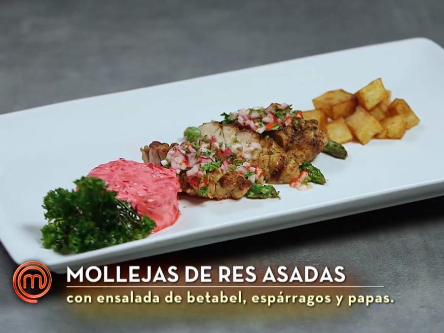 Dubraska cocinó mollejas de res asadas en la semifinal de MasterChef Latino 2