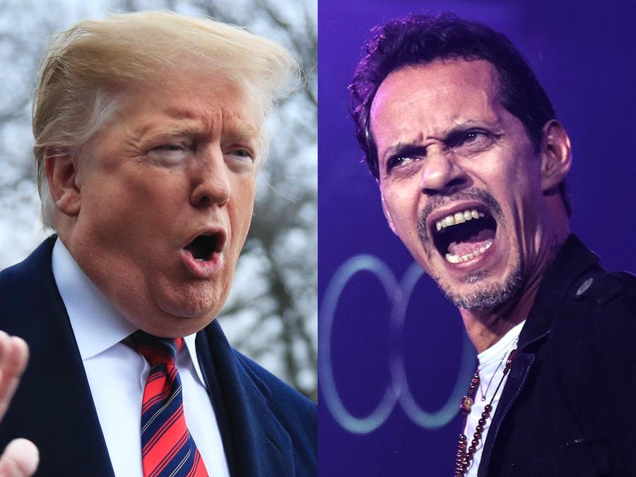 Marc Anthony y Donald Trump
