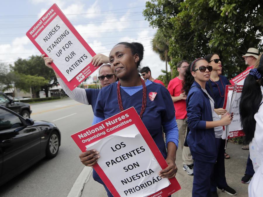Imagen de la huelga de enfermeros.