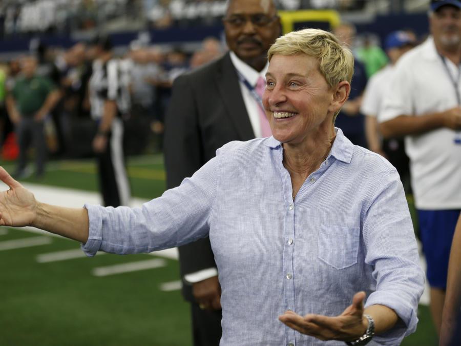 la presentadora Ellen DeGeneres