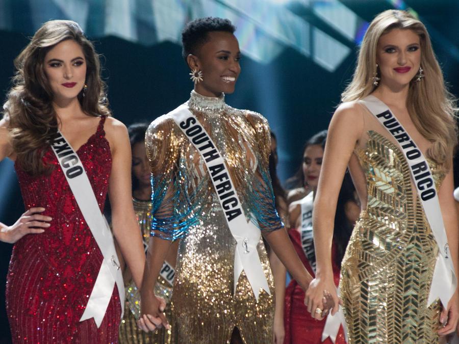 Las tres finalistas de Miss Universo 2019, Miss México, Miss Puerto Rico y Miss Sudáfrica