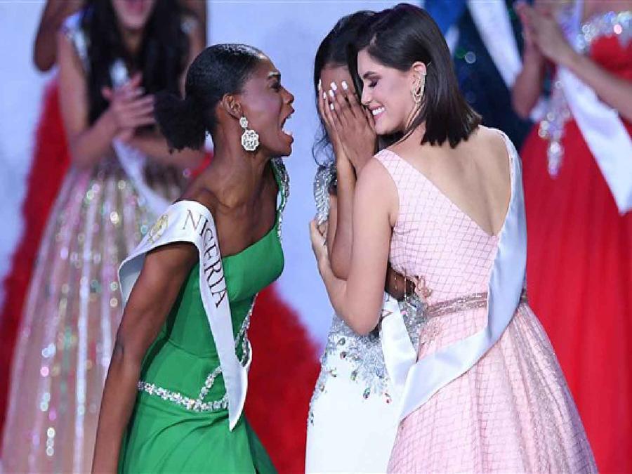Reacción de Miss Nigeria en Miss Mundo 2019