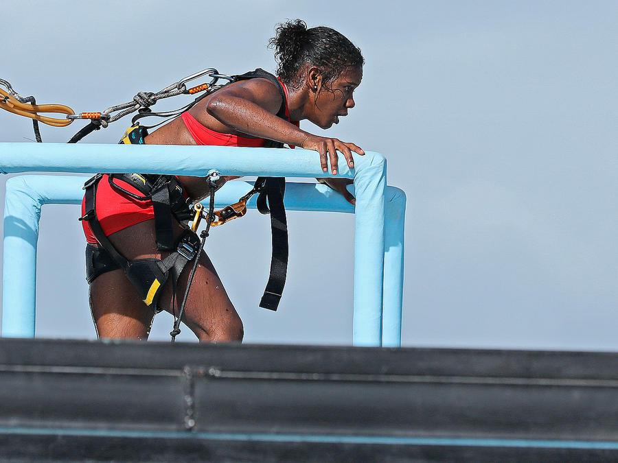 Yamilet Peña en el circuito de altura