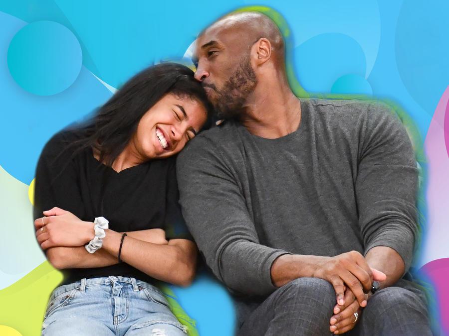 Gianna Bryant y Kobe Bryant