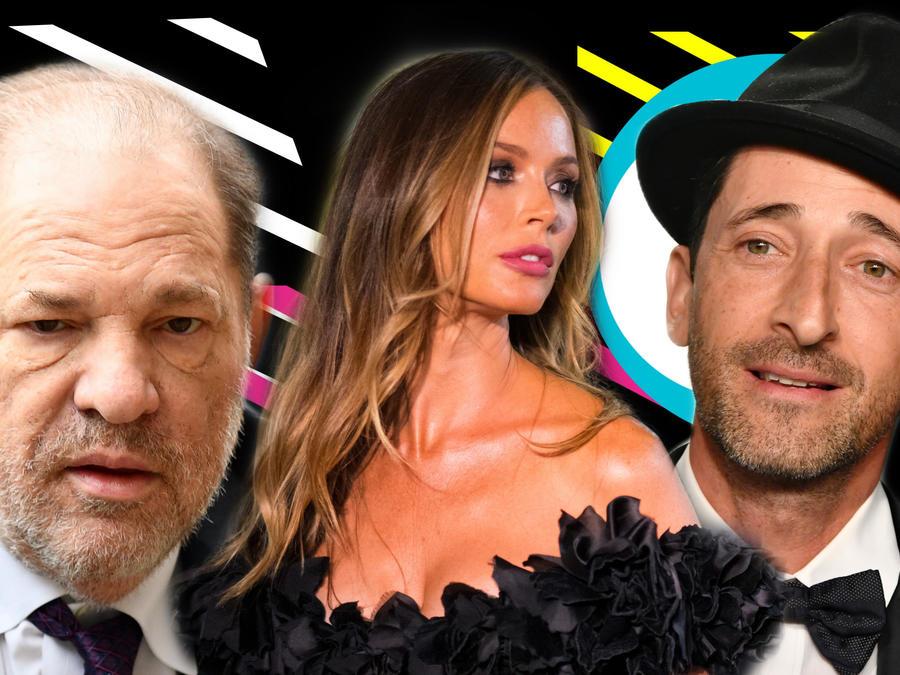Harvey Weinstein, Georgina Chapman y Adrien Brody