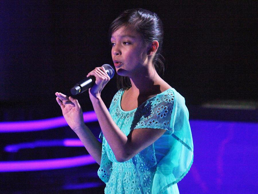 Jessica en las audiciones a ciegas de La Voz Kids