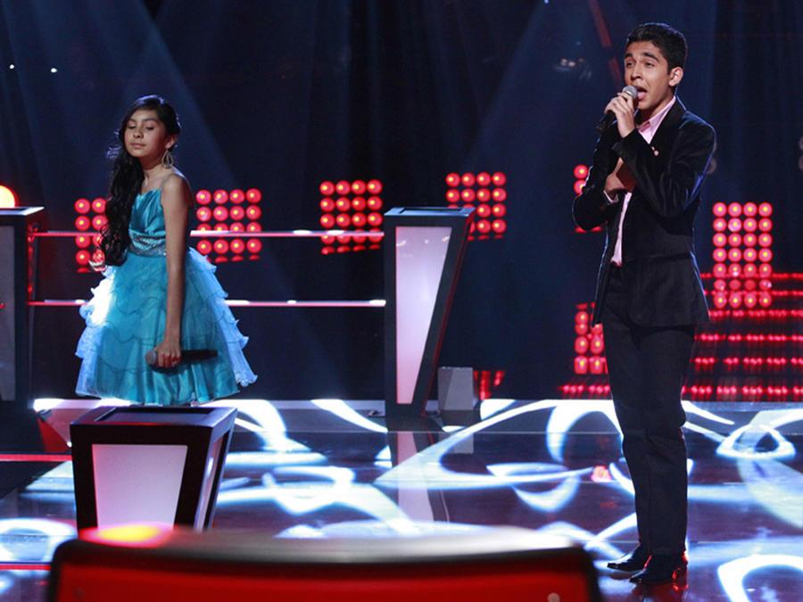 Johanna, Alan y Gabriela en las batallas de La Voz Kids