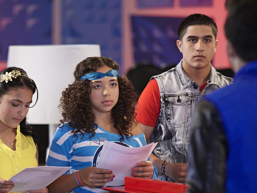 Paola, Eloy y Lisbet en los ensayos de las batallas de La Voz Kids